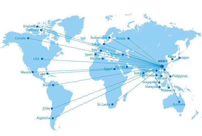 台亚制冷全球服务网点