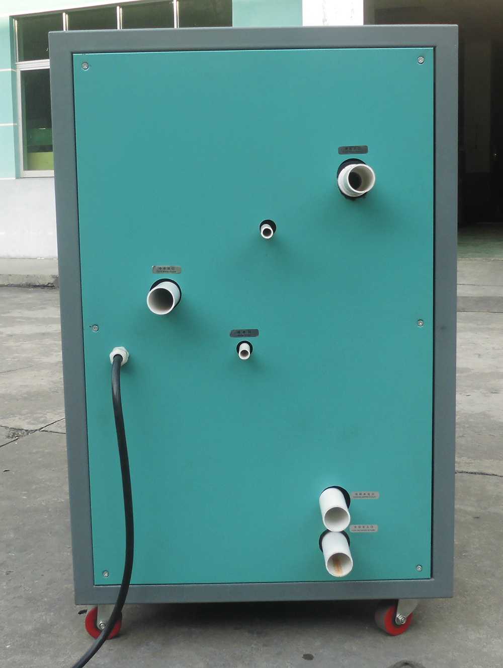 电镀设备专用冷水机背面